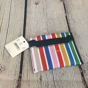 J.Crew Multi-Color Striped Card Holder Coin Purse